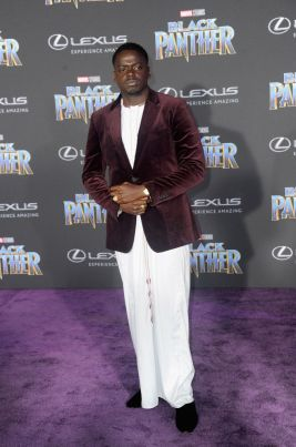 "HOLLYWOOD, CA - JANUARY 29: Actor Daniel Kaluuya arrves for the Premiere Of Disney And Marvel's ""Black Panther"" held at Dolby Theatre on January 29, 2018 in Hollywood, California. (Photo by Albert L. Ortega/Getty Images)"