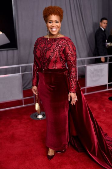 NEW YORK, NY - JANUARY 28: Recording artist Tina Campbell attends the 60th Annual GRAMMY Awards at Madison Square Garden on January 28, 2018 in New York City. (Photo by Dimitrios Kambouris/Getty Images for NARAS)