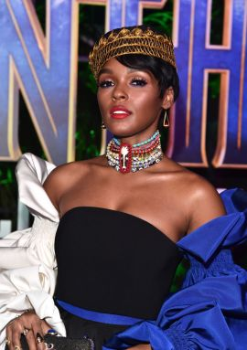 HOLLYWOOD, CA - JANUARY 29: Singer/actor Janelle Monae at the Los Angeles World Premiere of Marvel Studios' BLACK PANTHER at Dolby Theatre on January 29, 2018 in Hollywood, California. (Photo by Alberto E. Rodriguez/Getty Images for Disney)