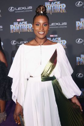HOLLYWOOD, CA - JANUARY 29: Actor Issa Rae at the Los Angeles World Premiere of Marvel Studios' BLACK PANTHER at Dolby Theatre on January 29, 2018 in Hollywood, California. (Photo by Jesse Grant/Getty Images for Disney)