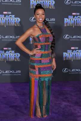 HOLLYWOOD, CA - JANUARY 29: Angel Parker attends the premiere of Disney and Marvel's 'Black Panther' at Dolby Theatre on January 29, 2018 in Hollywood, California. (Photo by Neilson Barnard/Getty Images)