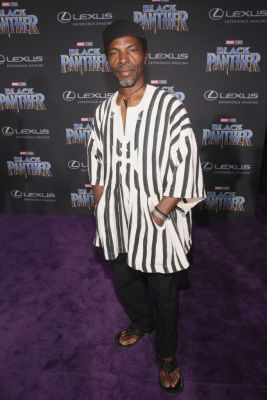 HOLLYWOOD, CA - JANUARY 29: Actor Isaach de Bankole at the Los Angeles World Premiere of Marvel Studios' BLACK PANTHER at Dolby Theatre on January 29, 2018 in Hollywood, California. (Photo by Jesse Grant/Getty Images for Disney)