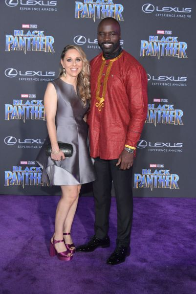"HOLLYWOOD, CA - JANUARY 29: Iva Colter and actor Mike Colter attends the premiere of Disney and Marvel's ""Black Panther"" at Dolby Theatre on January 29, 2018 in Hollywood, California. (Photo by Neilson Barnard/Getty Images)"