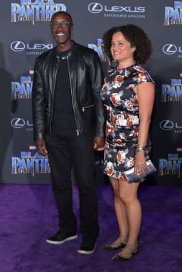HOLLYWOOD, CA - JANUARY 29: Don Cheadle and Bridgid Coulter attend the premiere of Disney and Marvel's 'Black Panther' at Dolby Theatre on January 29, 2018 in Hollywood, California. (Photo by Neilson Barnard/Getty Images)